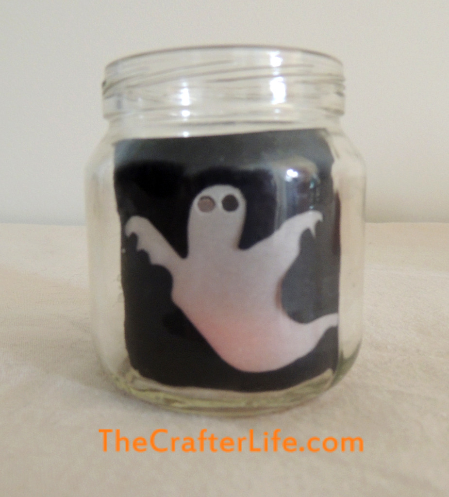 ghost, baby food jar, candle