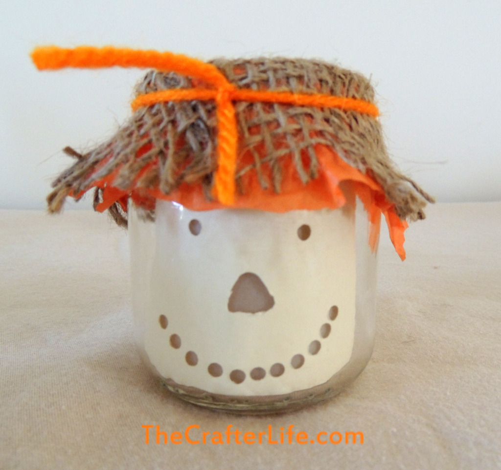 ScareCrow, Candle, Baby Food Jar, Scarecrow Candle