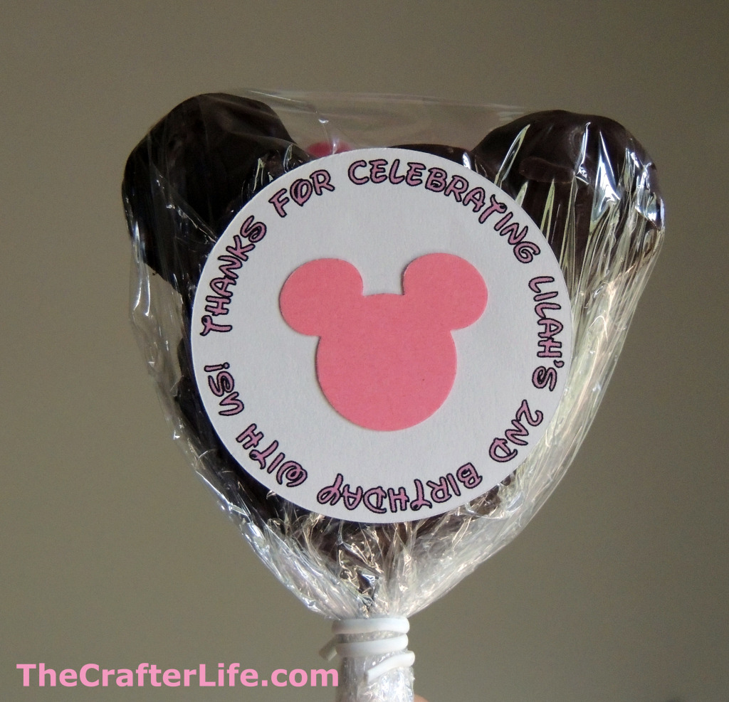 Minnie Mouse Cookie Pop