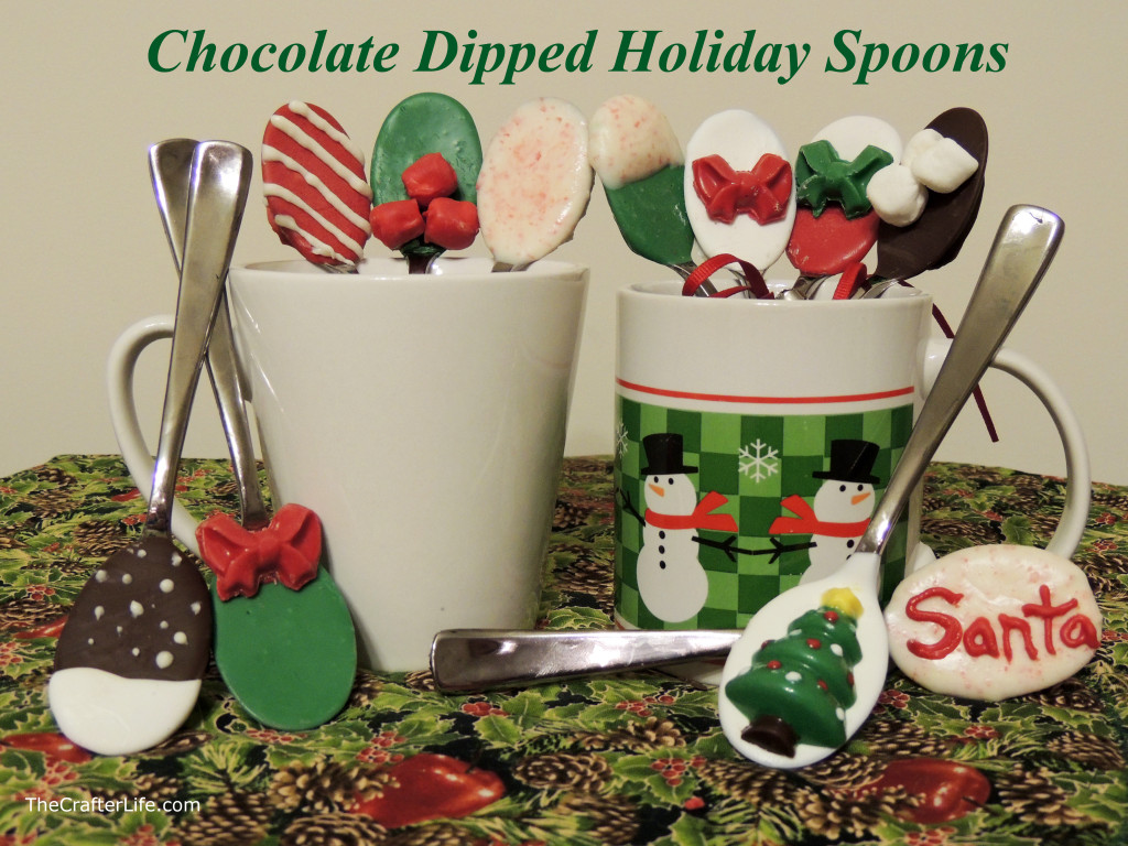 Chocolate Dipped Holiday Spoons