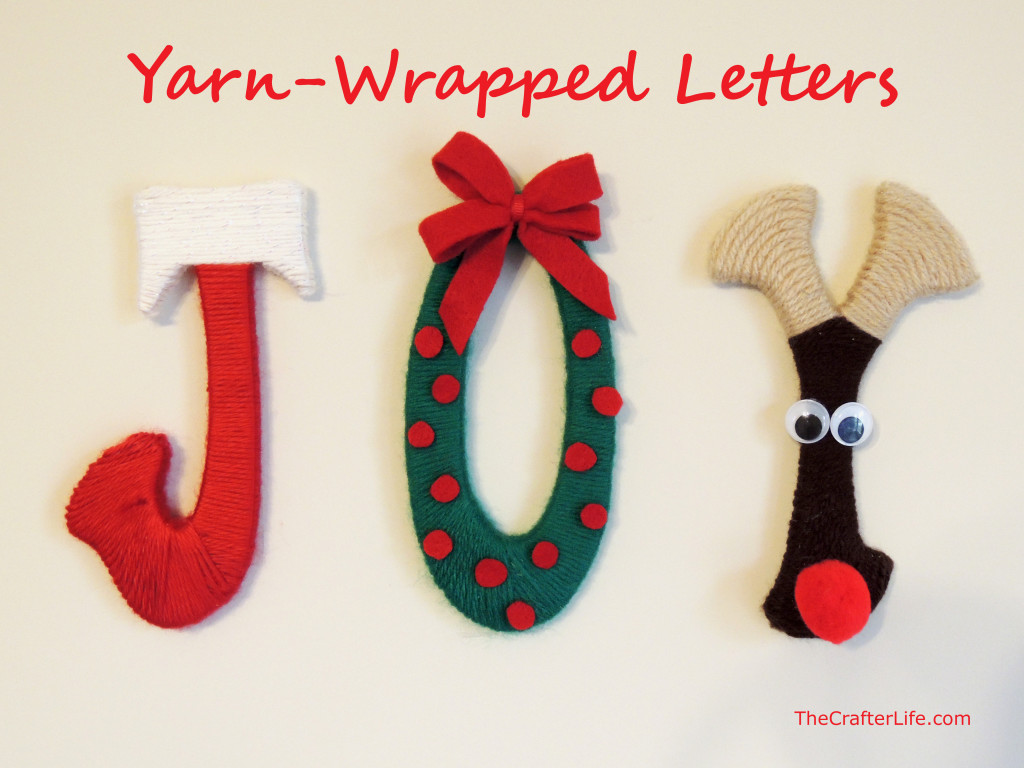 Yarn Wrapped Letters Joy