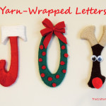 Throwback Thursday- Christmas Yarn-Wrapped Letters! ( from 2014)