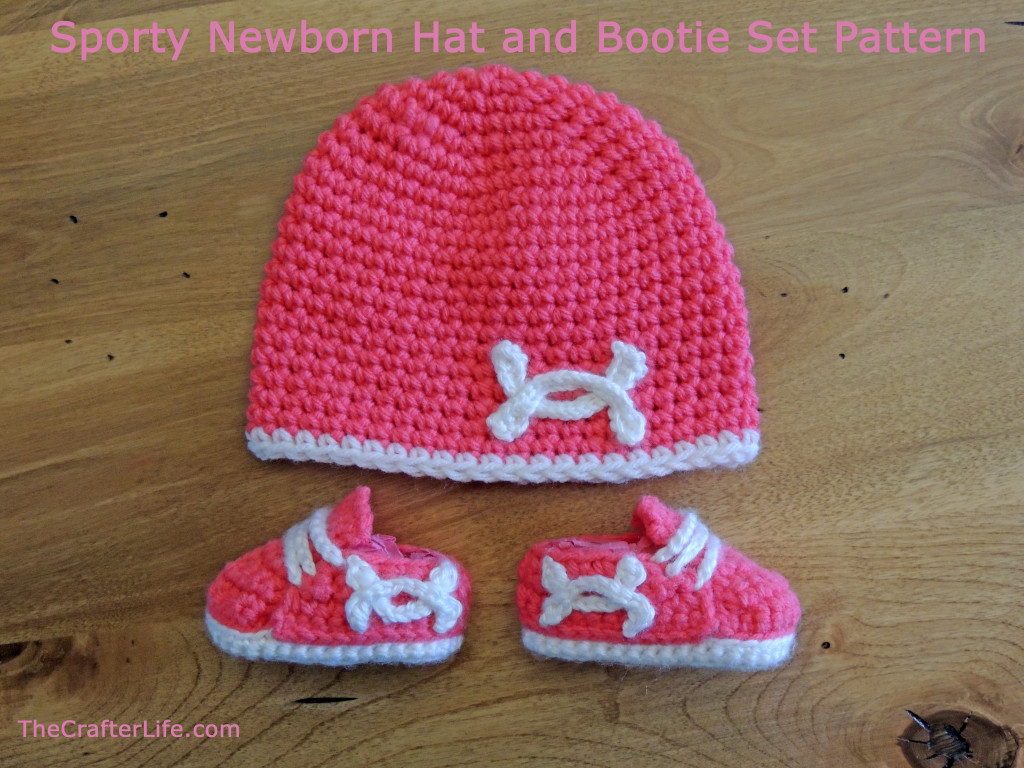 Crochet Bootie Hat Pattern