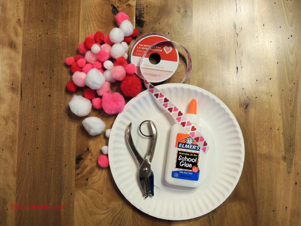 Paper Plate Heart Craft