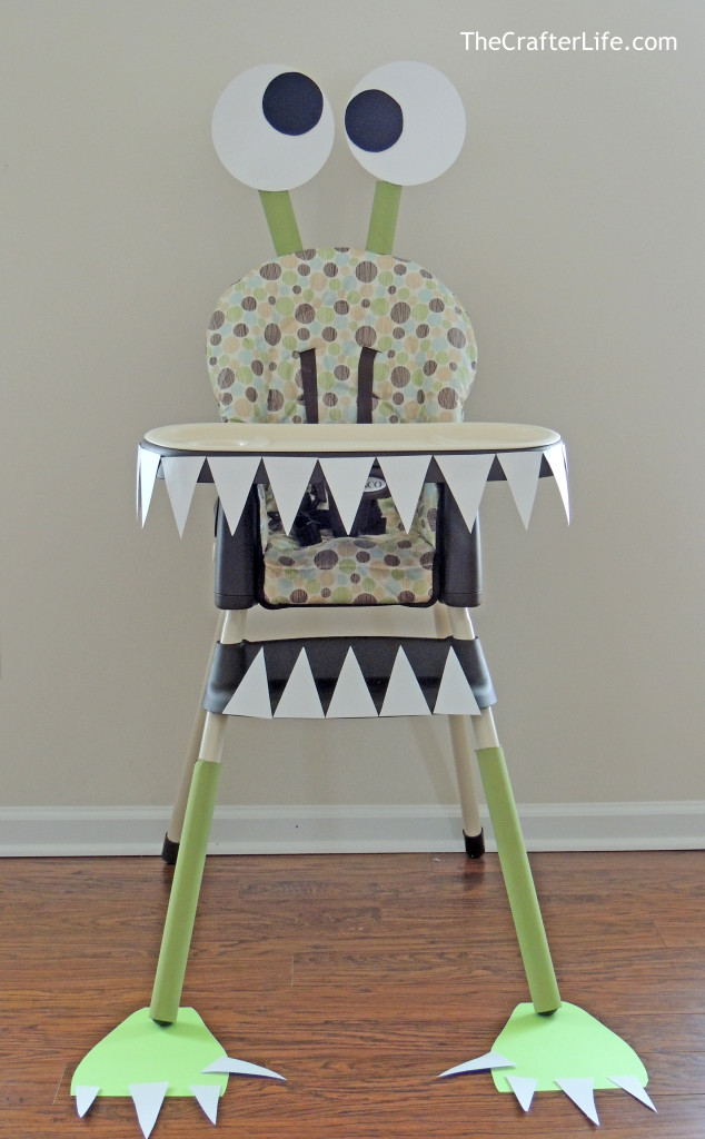 Diy monster high chair for 1 year birthday decoration ideas