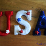 USA Yarn-Wrapped Letters