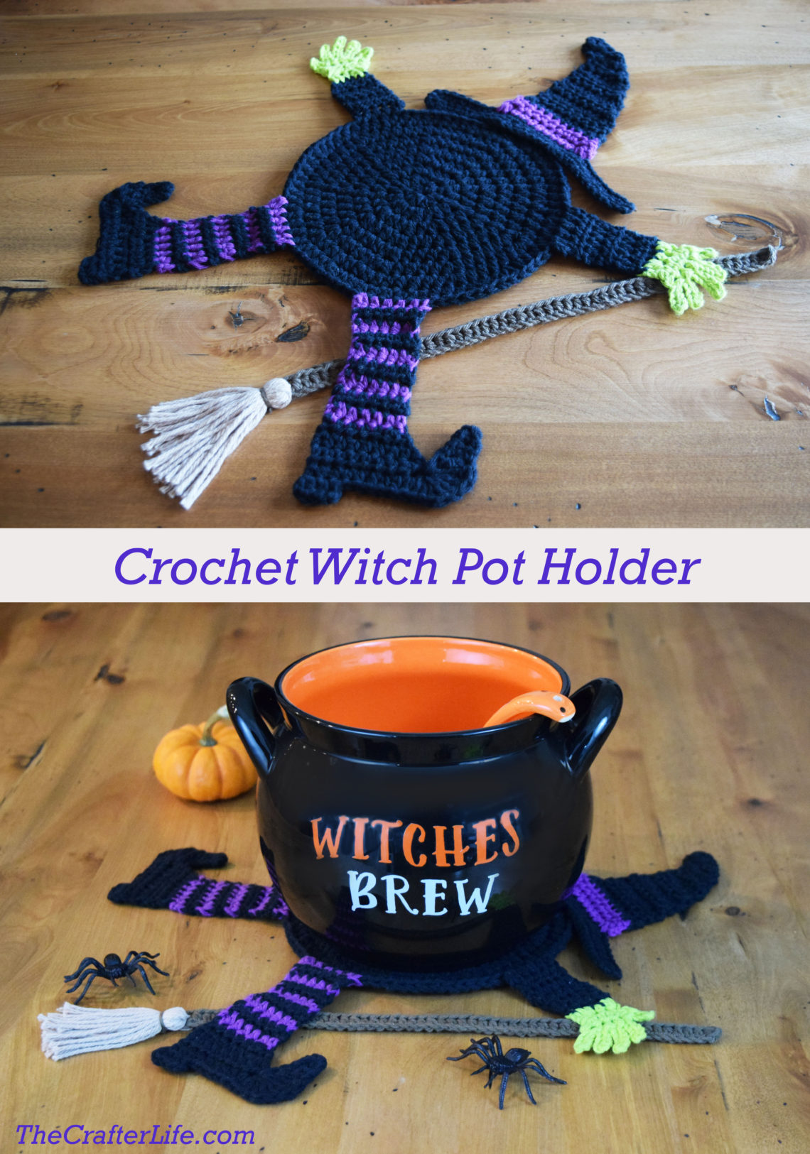 Flattened Witch Pot Holder The Crafter Life