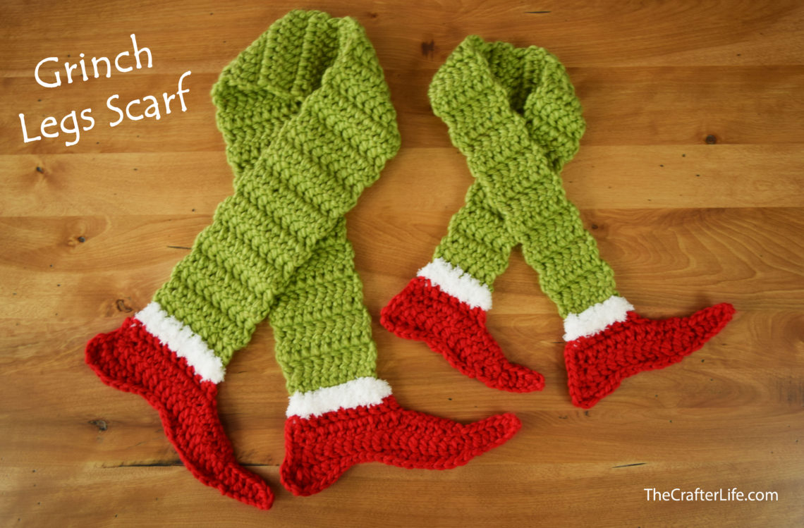 Grinch Legs Scarf - The Crafter Life 481ff0aaca0