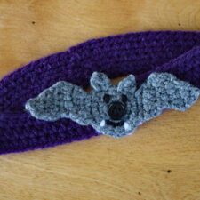 Flying Bat Button-On Appliqué