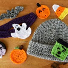 Cute As A Button Baby Headband and Hat