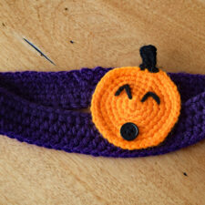 Jack-O'-Lantern Button-On Appliqué