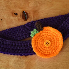 Pumpkin Button-On Appliqué